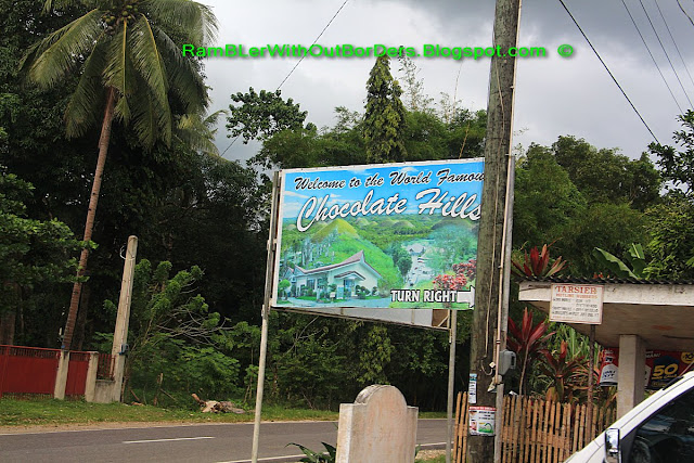 Sign board, Chocolate Hills, Bohol Island, Philippines