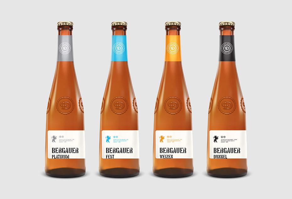 дизайн упаковки пива, Bergauer