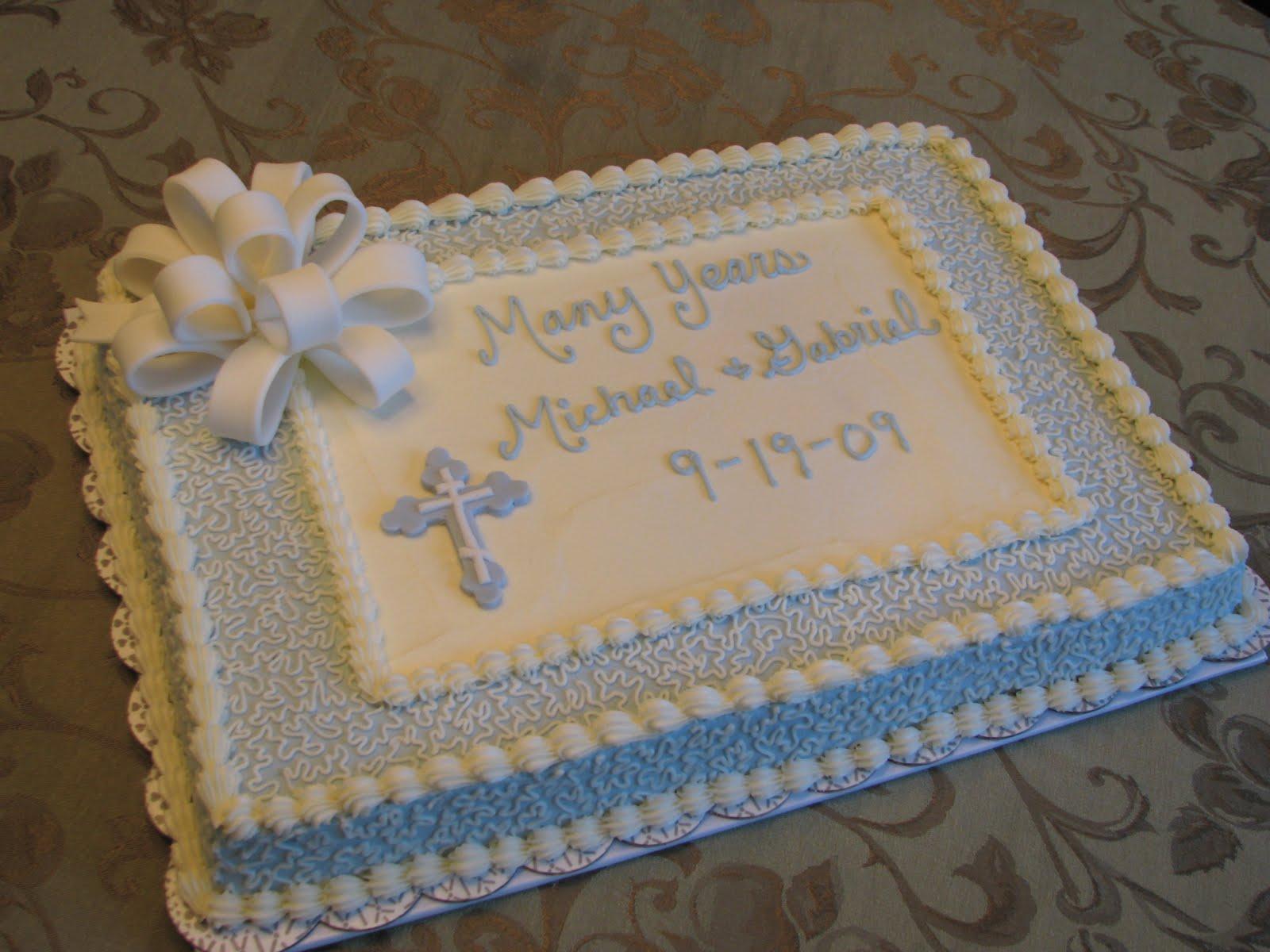 Baptism and Christening: Baptism and Christening Cakes