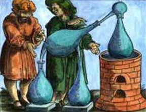 Jabir Ibn Hayyan tengah Melakukan Eksperimen