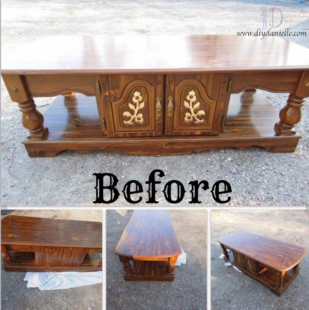 a simple makeover for a $10 coffee table | diy danielle