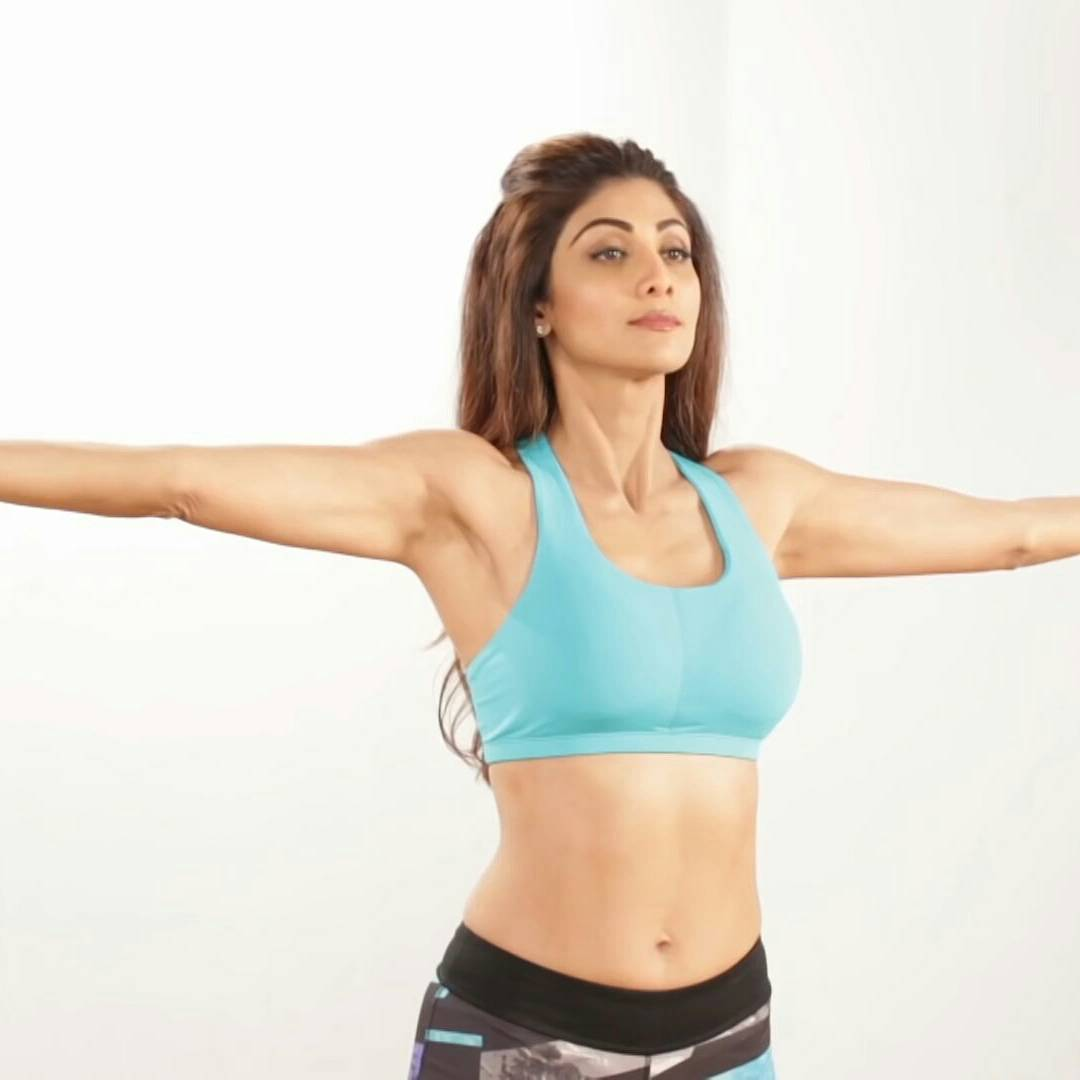 Shilpa Shetty Hot Yoga Photos - Actress Hot Navel Pics-1206