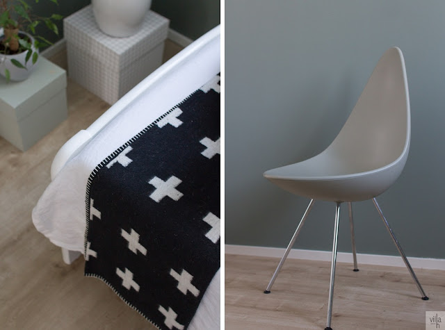 drop chair, Arne Jacobsen, Pia Wallen, cross blanket