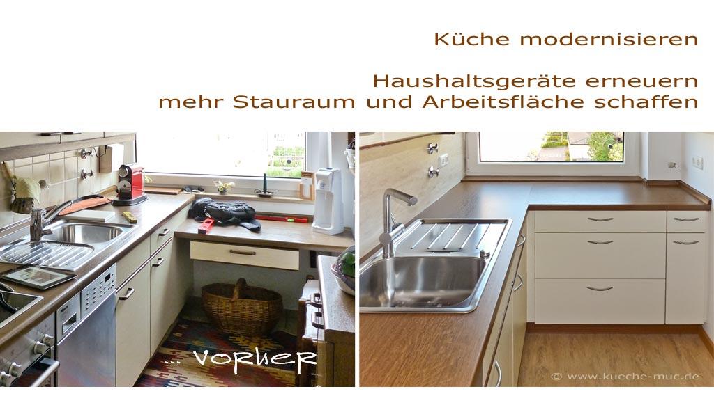 Wir renovieren Ihre Küche Arbeitsflaeche der Kueche