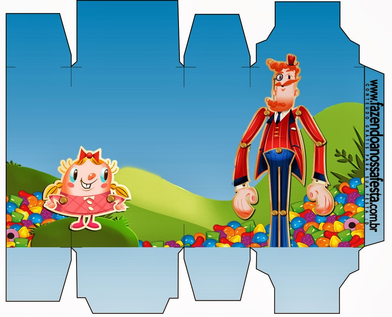 Cajas Para Fiesta De Candy Crush Ideas Y Material Gratis