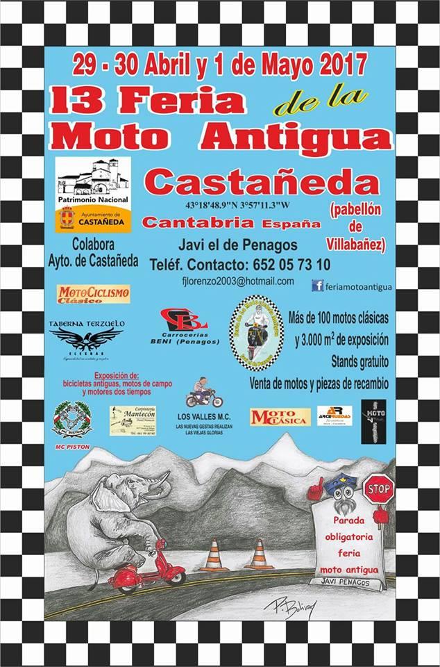 XIII Feria de la moto antigua en Castañeda 2017