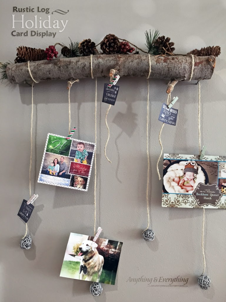 rustic-log-holiday-card-display