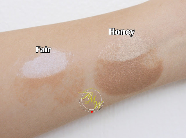a swatch photo of Cathy Doll Sculpting: Highlight & Shading Cushion Review Fair skin and Honey Skin.