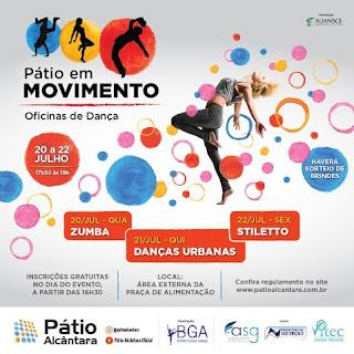 Pátio Alcântara realiza workshop 'Pátio em Movimento – Oficinas de Dança'