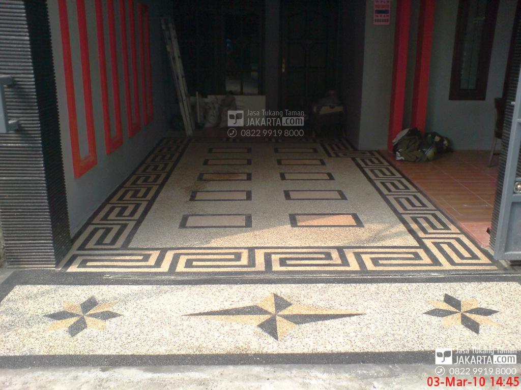 lantai karport - jasa tukang koral sikat garasi rumah