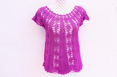 Blusa con piñas Majovel crochet 1