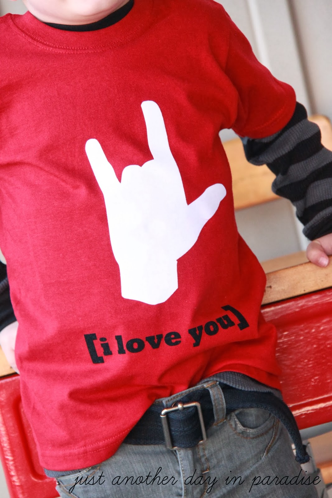 Larissa Another Day Sign Language I Love You T Shirt