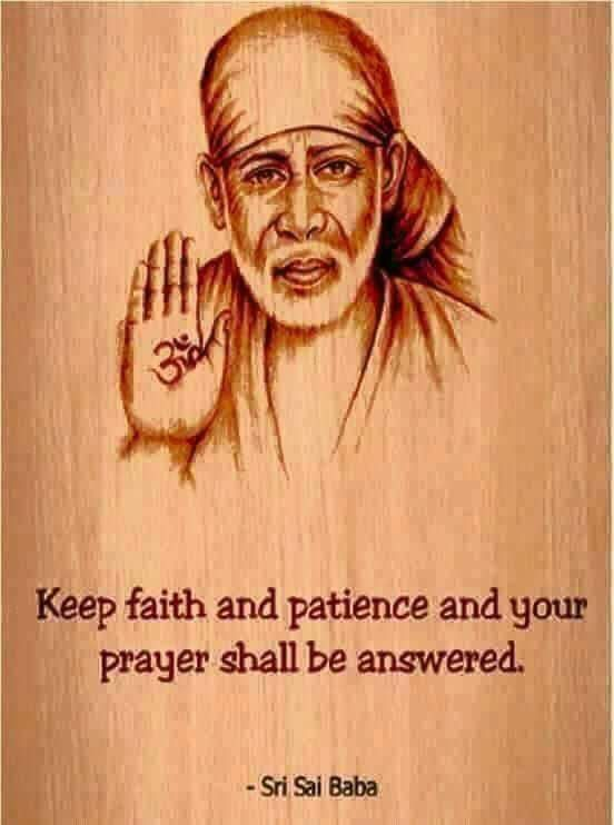 Sai Baba Photo with Quotes