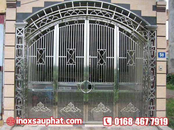 Xưởng inox Sáu Phát nhận làm cửa inox, cổng inox ở TPHCM