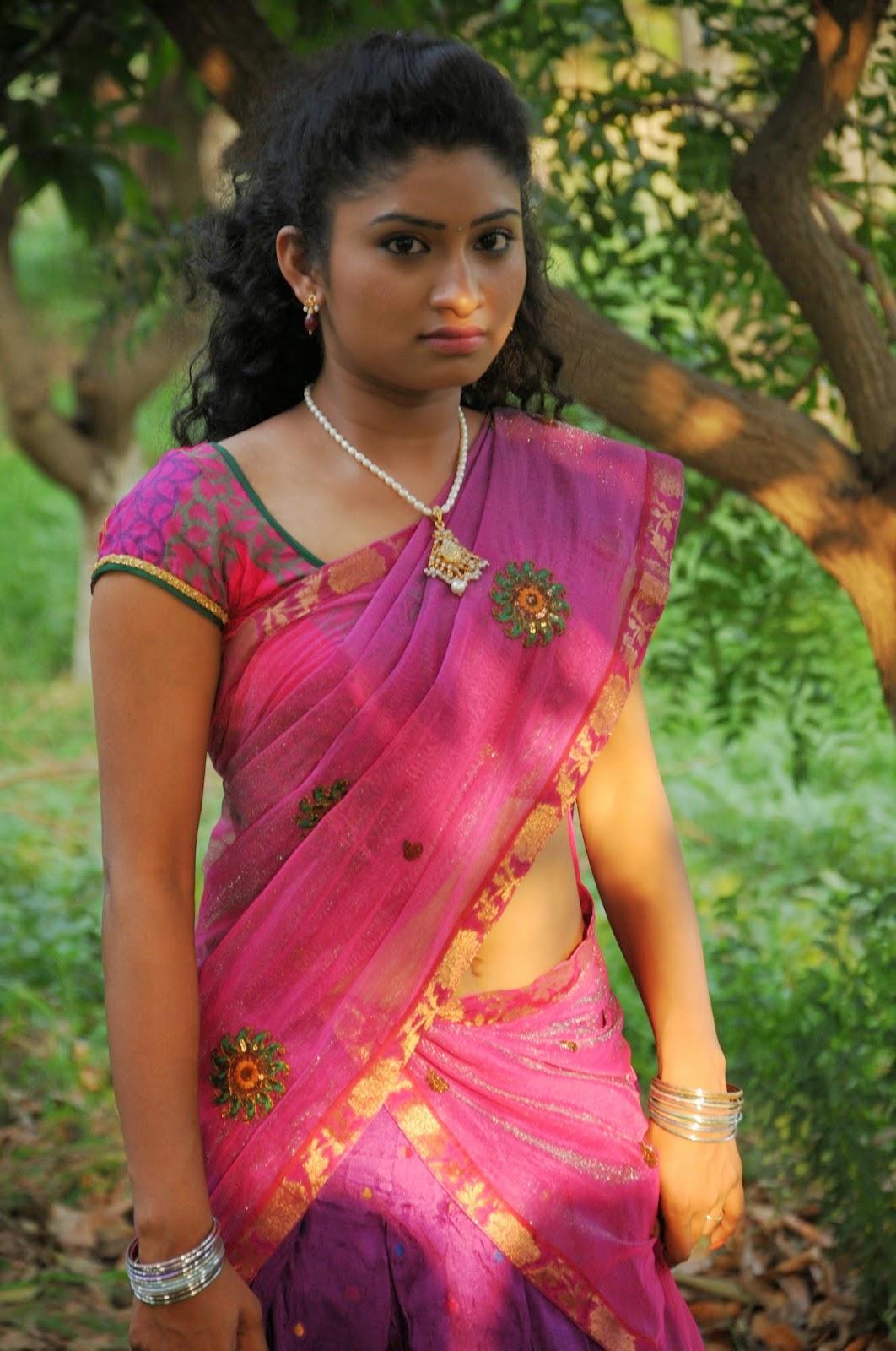 Cute Tamil Actress Wallpapers Vishnu Priya Half Saree Cute Stills Latest Movie Updates