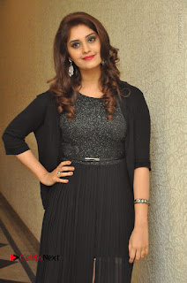 Actress Surabhi Stills in Black Long Dress at turodu Audio Launch  0012.JPG