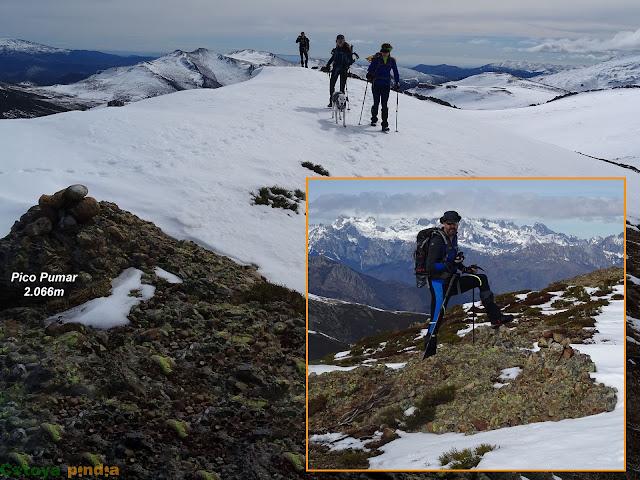 en la cima del Pico Pumar