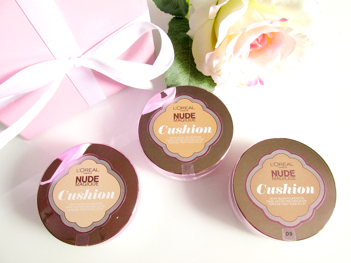 Review - Swatches :L´Oréal - Nude Magique Cushion Foundations
