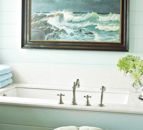 Hang Art in the Bathroom over the Bathtub