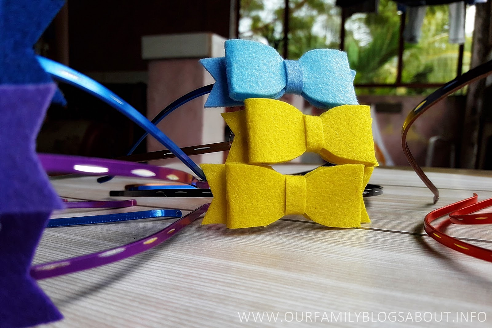 Felt cloth bow hair clips and headbands craft do it yourself felt cloth felt cloth bows felt cloth headbands solutioingenieria Images