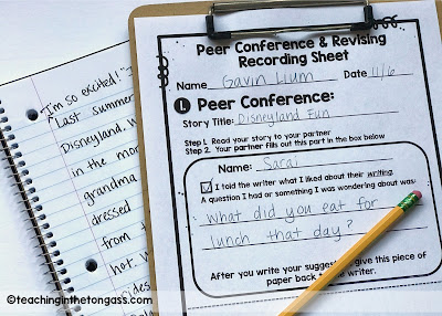 Writing Peer Conference Sheets