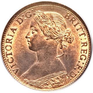 British Coins Farthing 1863 Queen Victoria
