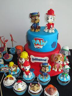 bolo bolachas cake pops cupcakes patrulha pata