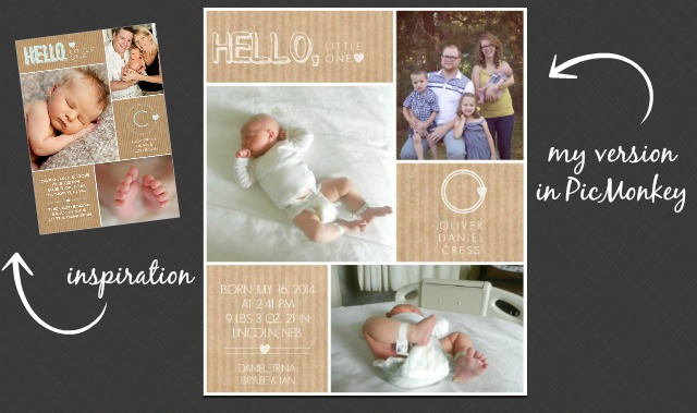 Baby Announcement Collage Ideas and Designing with PicMonkey