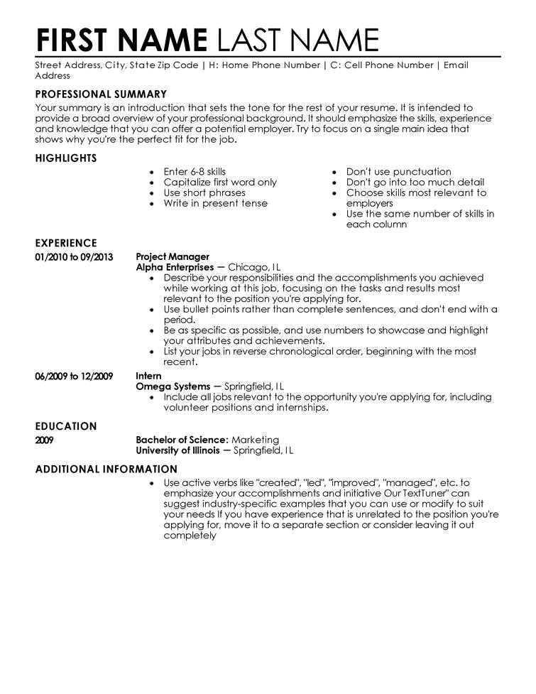 Resume Templates and Examples dadakan