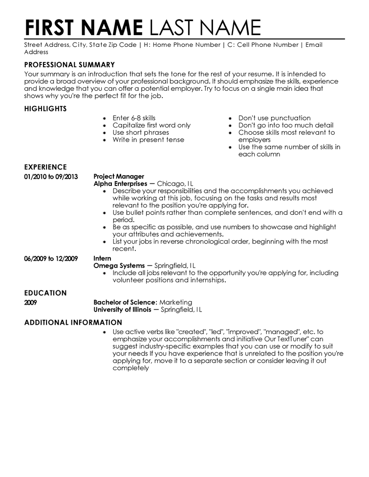 Examples Of A Simple Resume | Resume Format Download Pdf