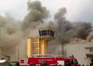 BREAKING: Passengers flee as fire guts Imo Airport