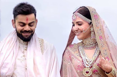 Virat and Anushka on Their Marriage Day