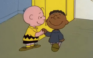 You are a good man charlie brown encouraging your brother