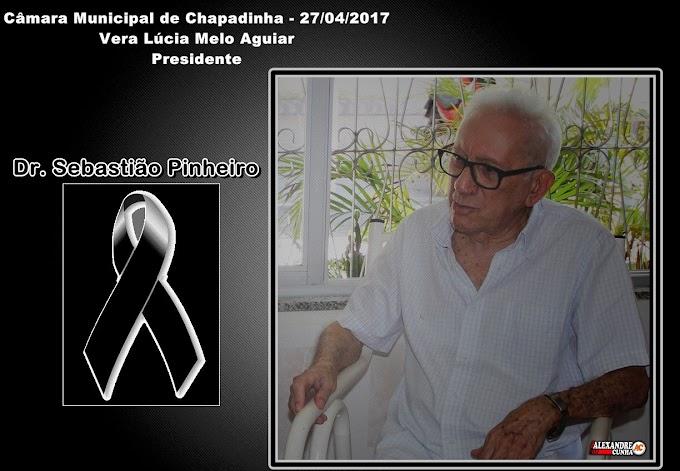 Presidente da Câmara Municipal de Chapadinha, Vera Lúcia, emite nota de pesar pelo falecimento de Dr. Sebastião Pinheiro.