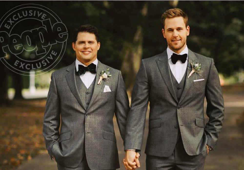 Depois de 10 anos de namoro, Dan Amboyer se casa em Nova York