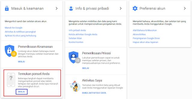 Cara menemukan HP Hilang dengan Akun Google
