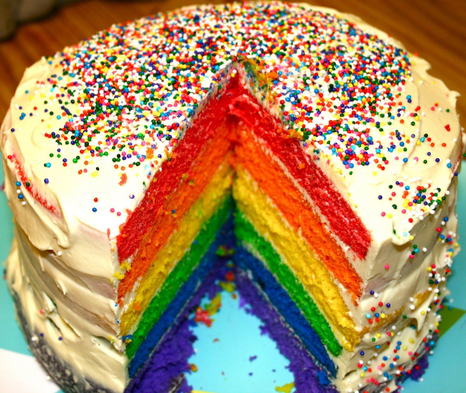 Rainbow Sprinkle Cake Recipe