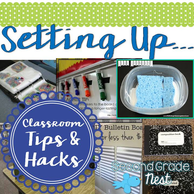 Classroom organization tips and hacks for setting up to go back to school- teacher tips and hacks for your classroom