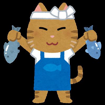 猫の魚屋のイラスト