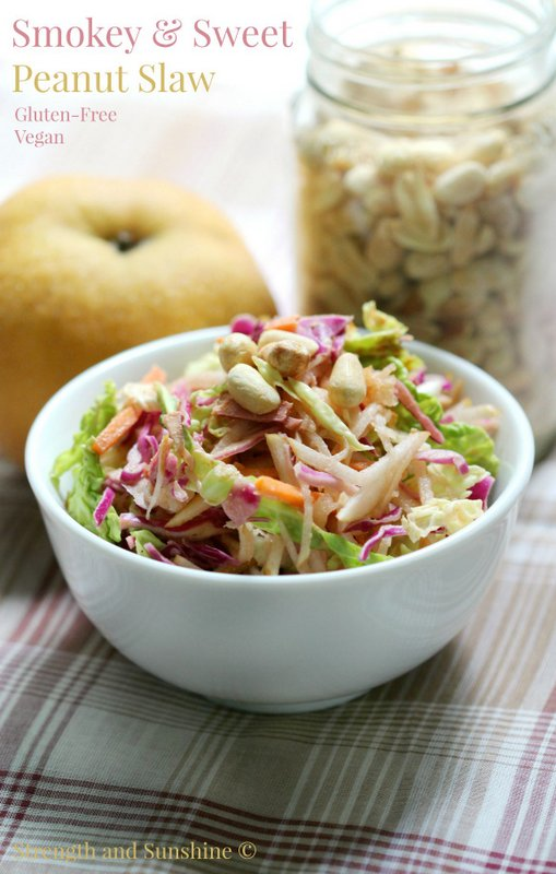 Smokey & Sweet Peanut Slaw from Strength and Sunshine