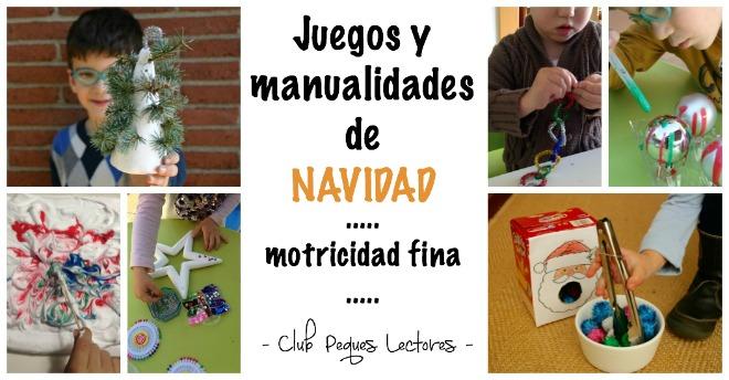 juegos y manualidades infantiles navidad para trabajar motricidad fina