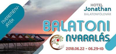 Hotel Jonathan Nyerj egy 7 napos (6 éjszakás) nyaralást a Balatonon!