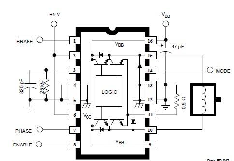 DC Servo Motor Controller Circuit Diagram