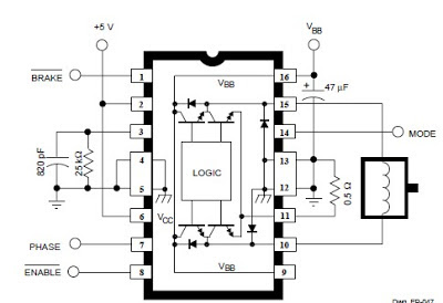 DC Servo Motor Controller ~ Diagram and Circuit