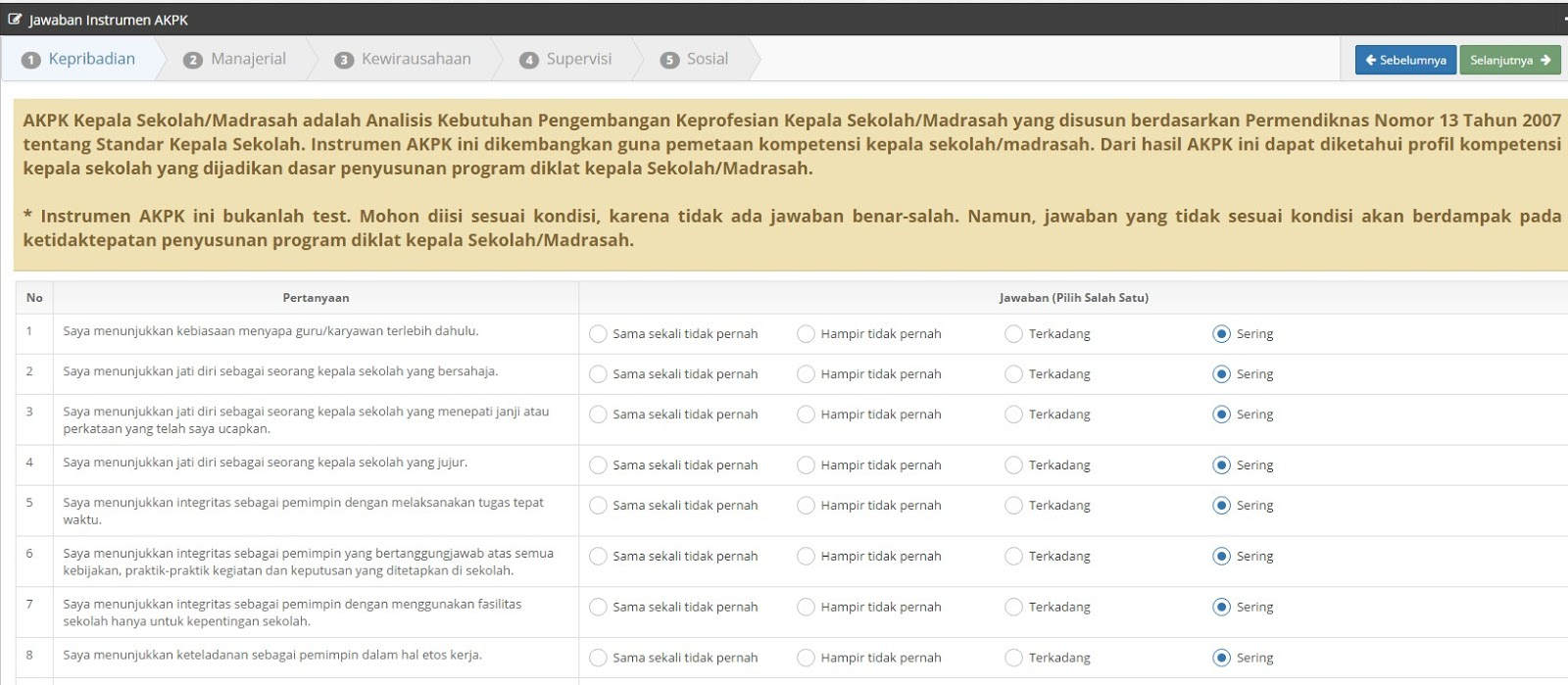 Cara Menggunakan AKPK Online Bagi Kepala Sekolah/Madrasah