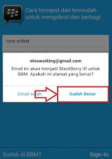 Cek Email Saat Daftar BBM di Android