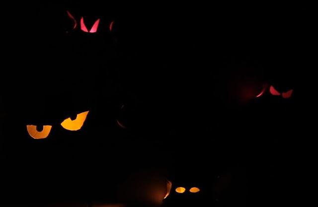 ojos, terrorificos, carton, led, halloween