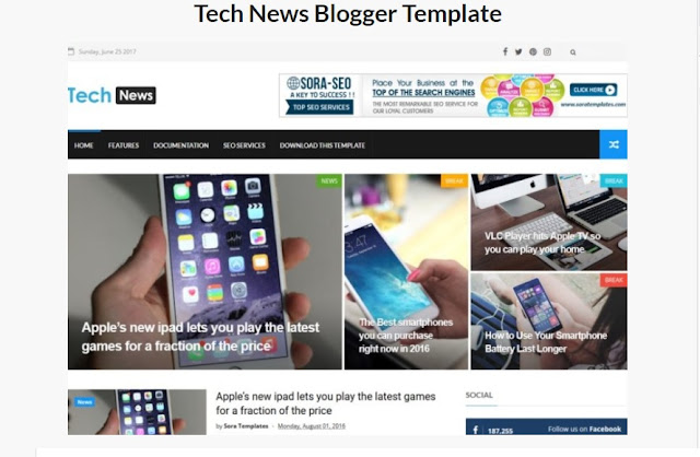 Tech News Blogger Template