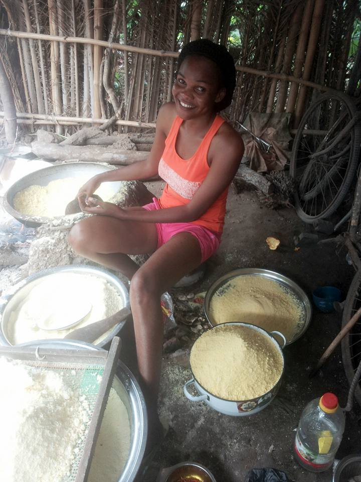 Image result for Meet The Ebonyi Student who processes her own Garri, because she can't buy 'expensive garri'