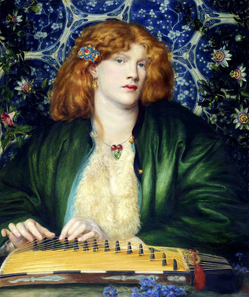 Dante Gabriel Rossetti - Fanny Cornforth - Blue Bower - Barber Institute